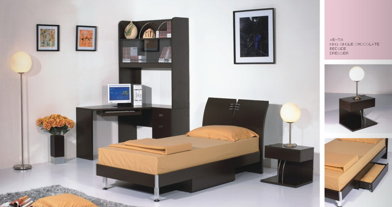 beautiful single bedroom design - Single Bed Bedroom Design