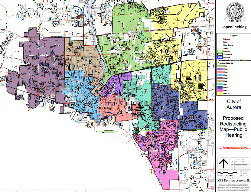 OpenlineBlogcom Top Secret City of Aurora Ward Map Redistricting