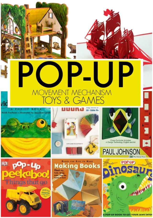 pop-up games books activities for kids