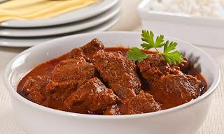 Carne cozida na pressão com molho de pimenta light