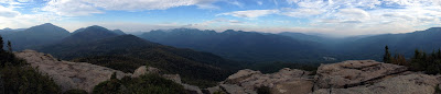 Panorama from Noonmark's summit, Saturday 09/19/2015.  The Saratoga Skier and Hiker, first-hand accounts of adventures in the Adirondacks and beyond, and Gore Mountain ski blog.