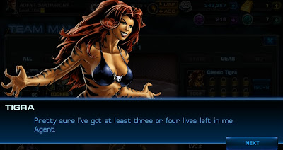 Tigra in Marvel Avengers Alliance