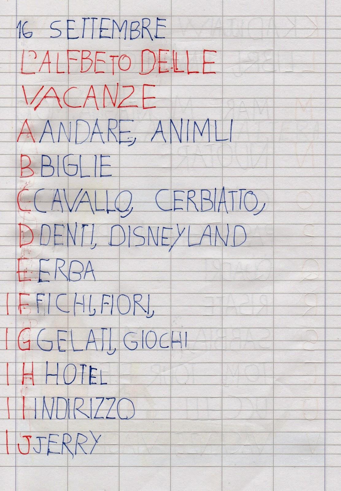 Assez APEdario: L'alfabeto delle vacanze, un anno dopo WA73