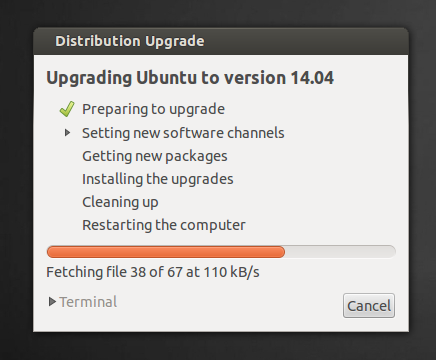 upgrade to ubuntu 14.04 from ubuntu 12.04