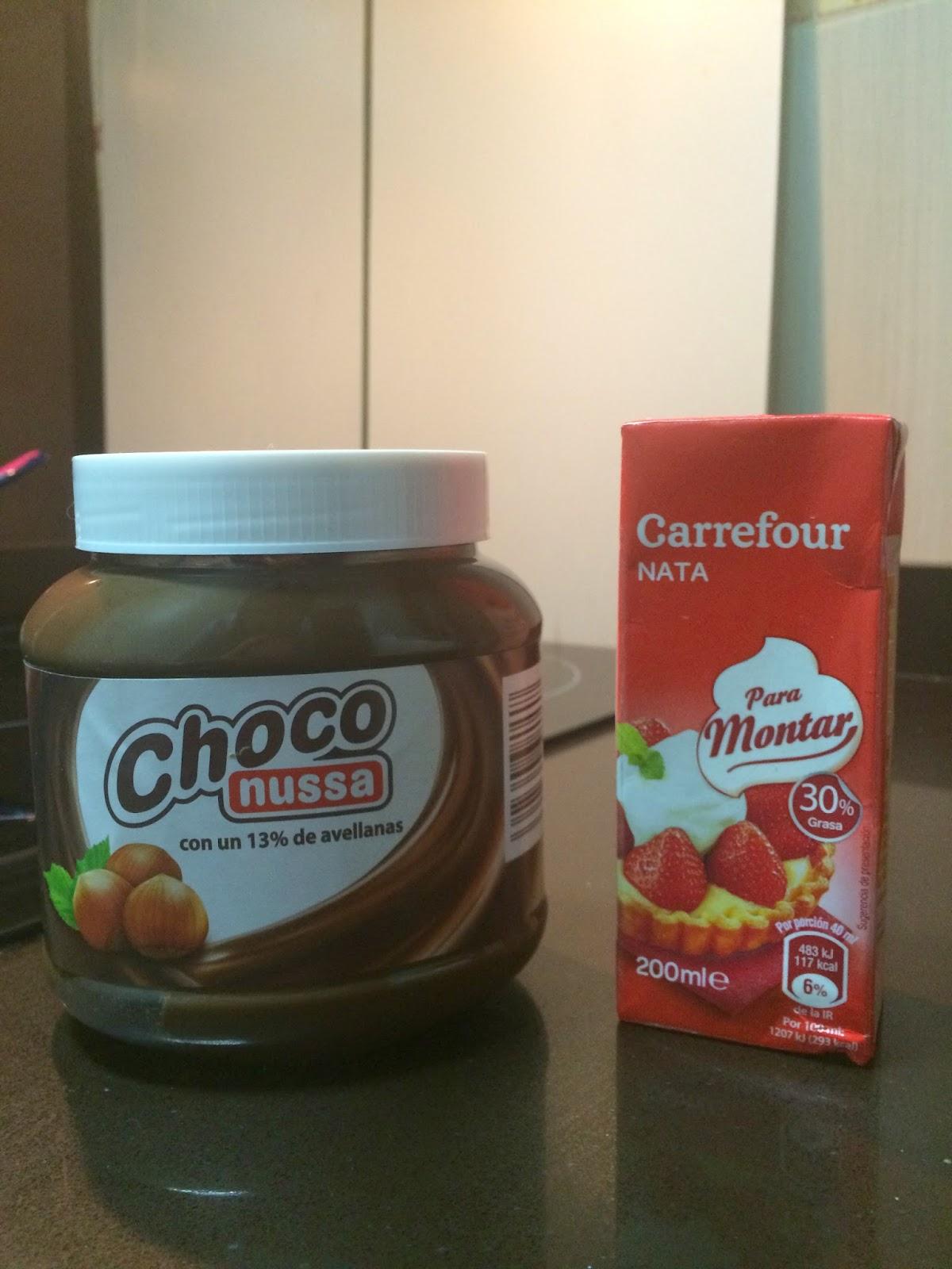 Ganache de nutella