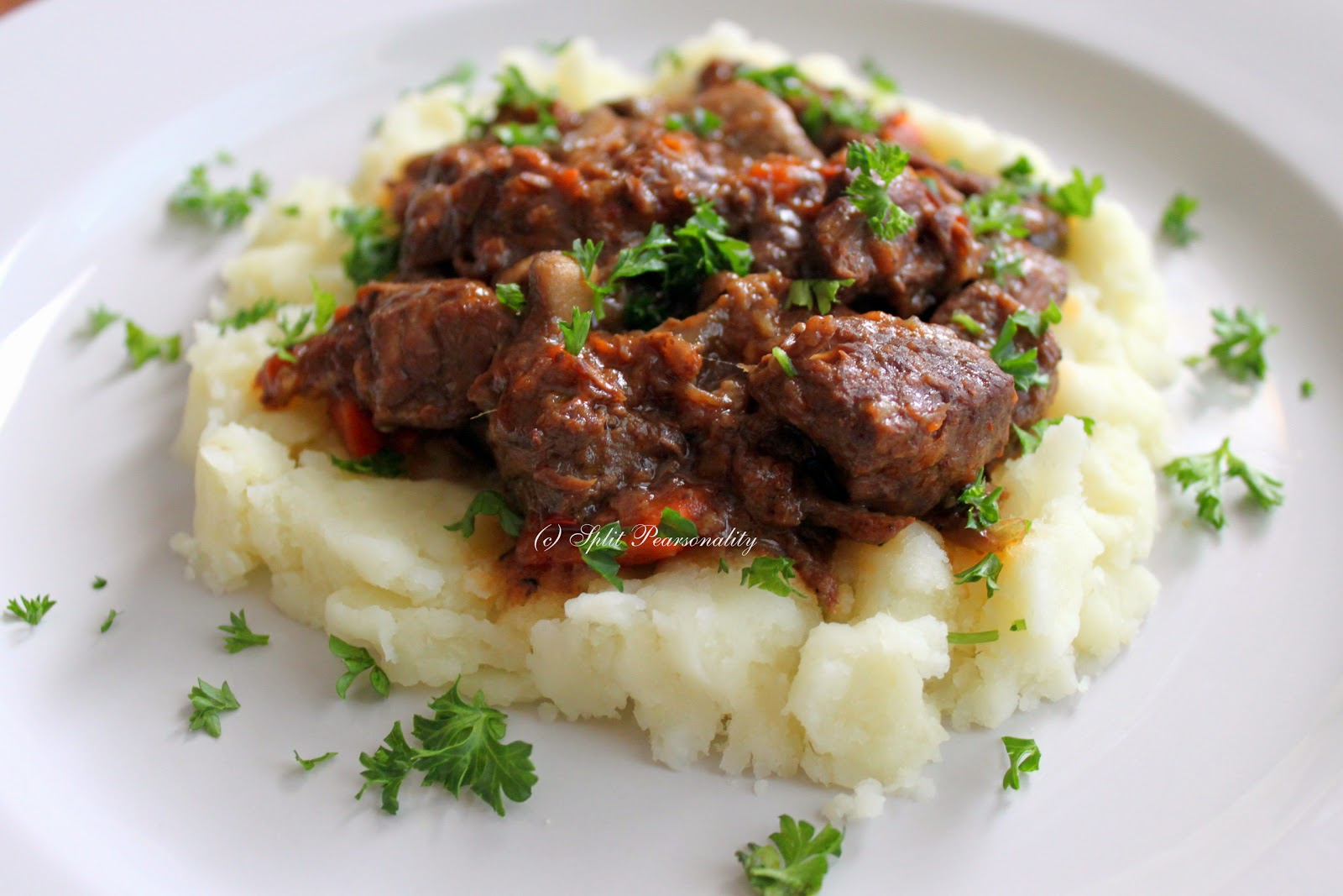 Split Pearsonality Recipe Collection: Julia Child's Boeuf Bourguignon