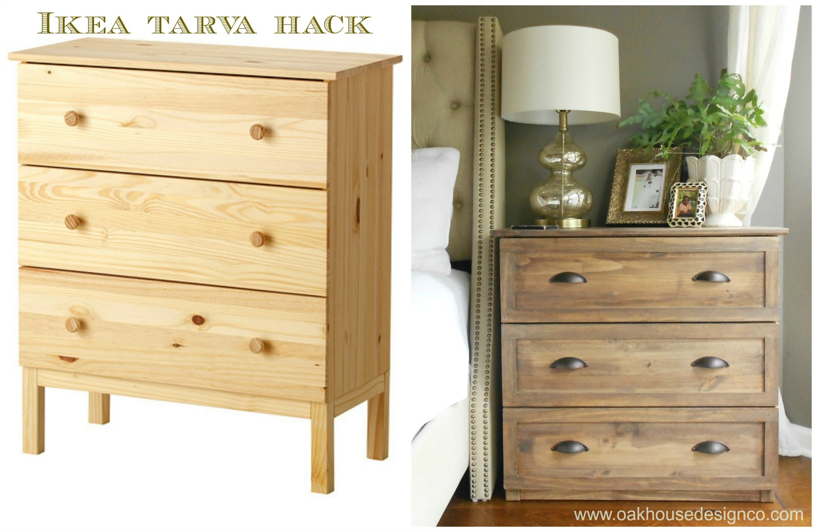 the new nightstands an ikea tarva hack oak house design co. Black Bedroom Furniture Sets. Home Design Ideas