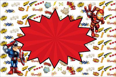 Moldura Convite e Cartão Esquadrão de Heróis: