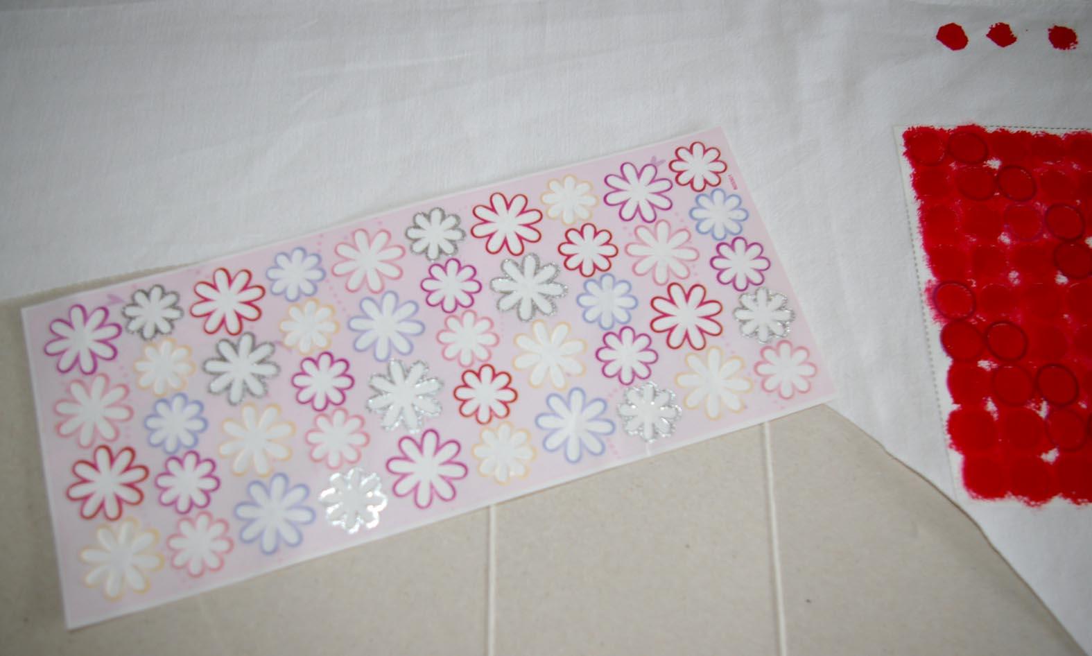 Sticker Waste Fabric Stencilling