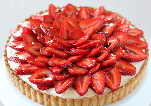 The galley gourmet strawberry and white chocolate mousse tart for White chocolate and strawberry tart