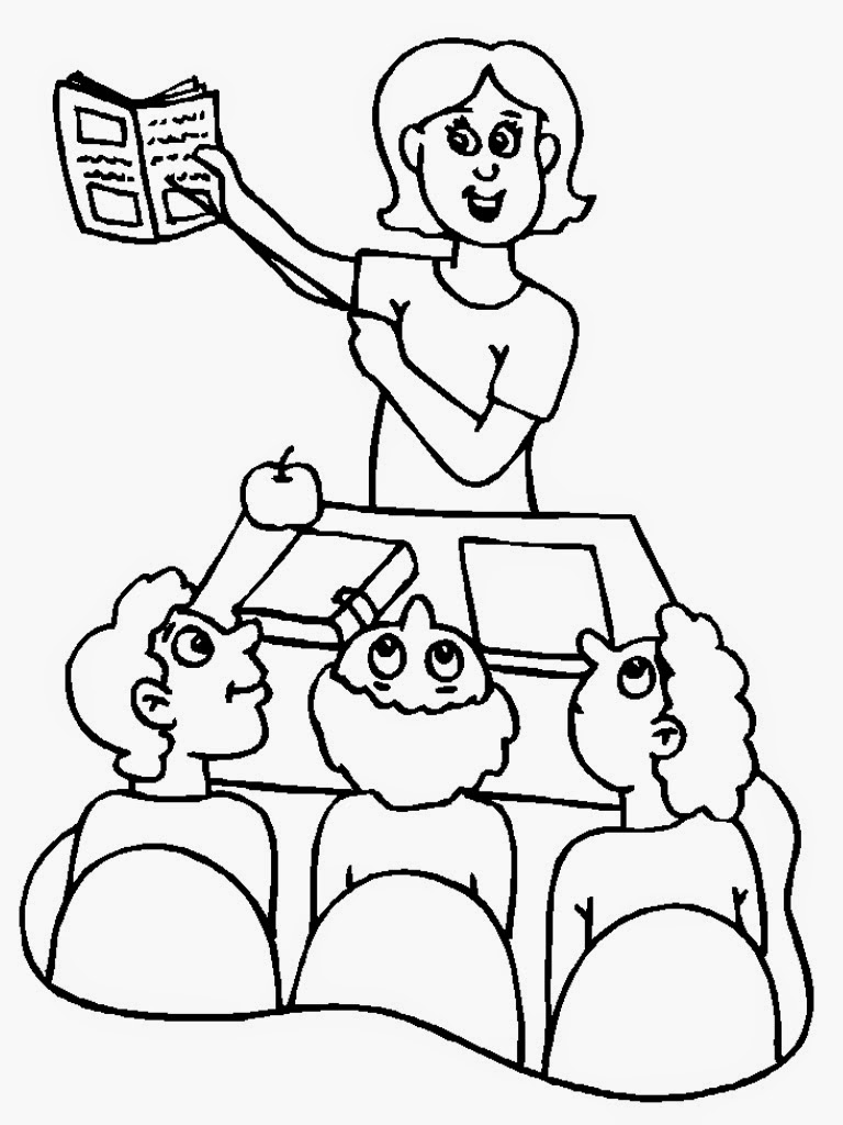 coloring pages of teachers - photo#20