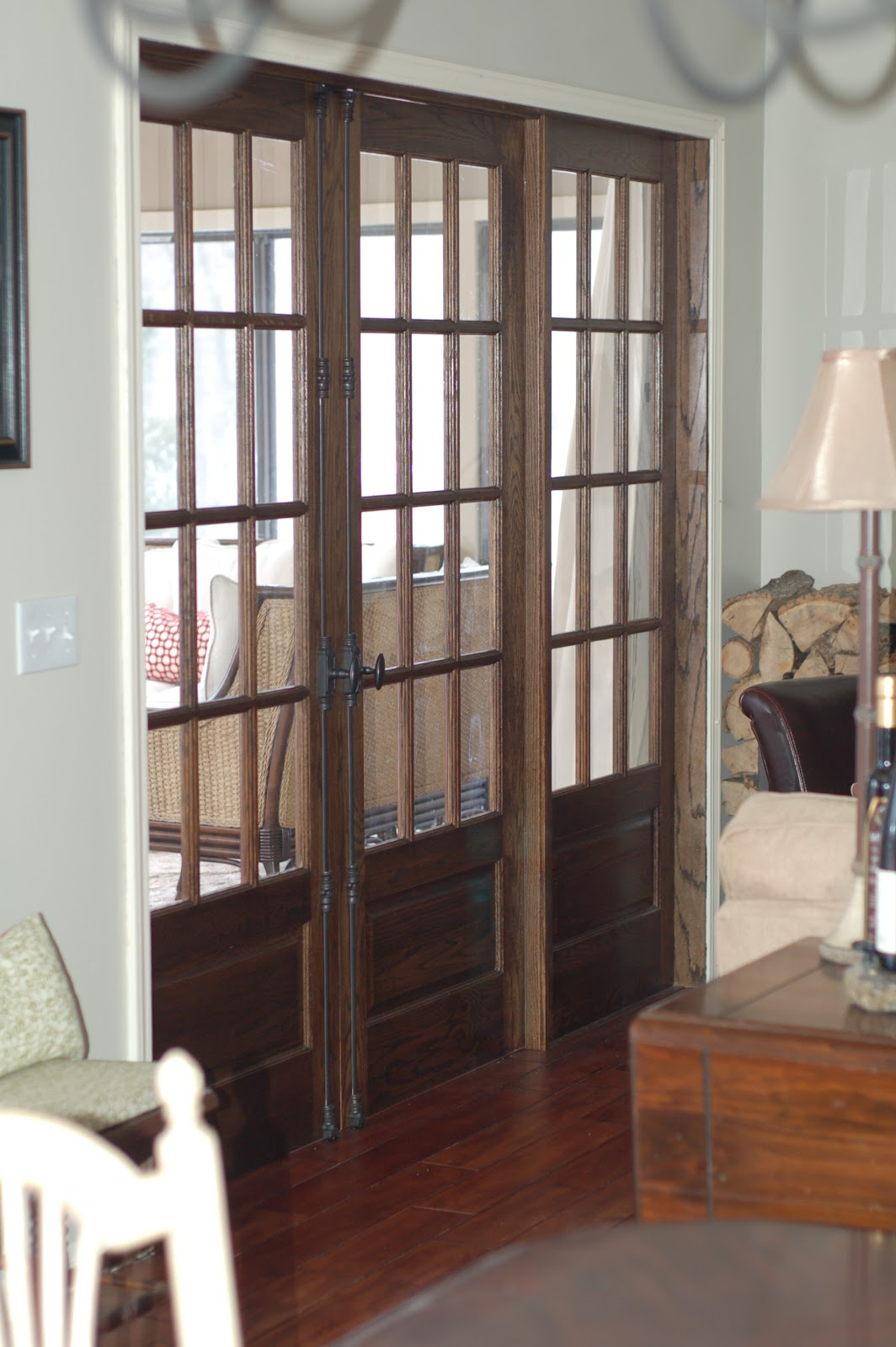 Busy days worthwhile installing our triple french doors for Installing french doors