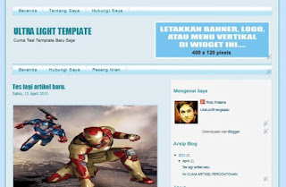 Tampilan homepage Template Blog SEO FRIENDLY RP0513