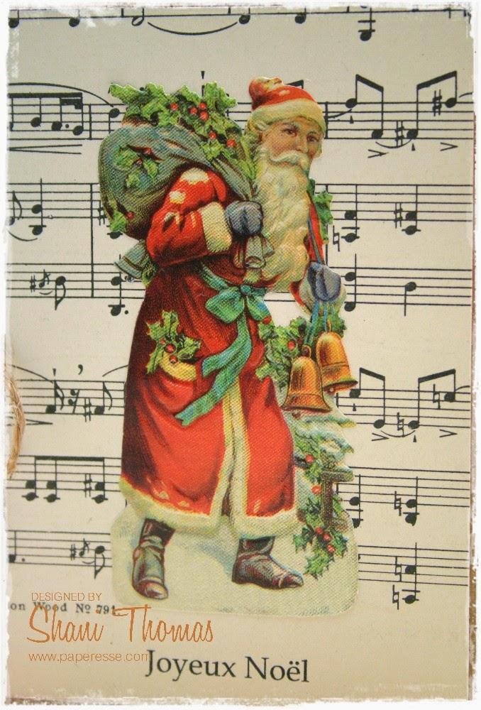 Paperesse: Mailable vintage look Christmas cards