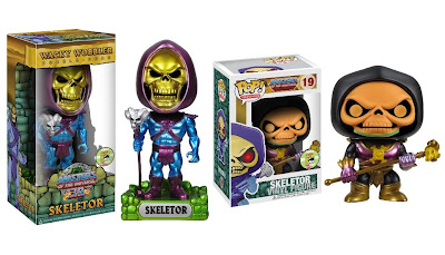 San Diego Comic-Con 2013 Exclusive Metallic Skeletor Masters of the Universe Wacky Wobbler Bobble Head & Disco Skeletor Masters of the Universe Pop! Television Vinyl Figure by Funko