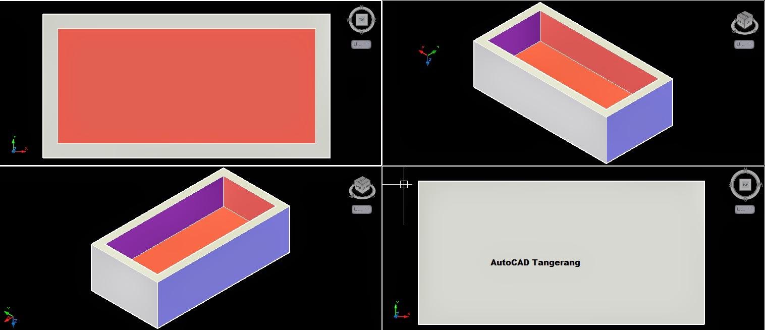Cara Membuat Multi View Pada Layar AutoCAD.