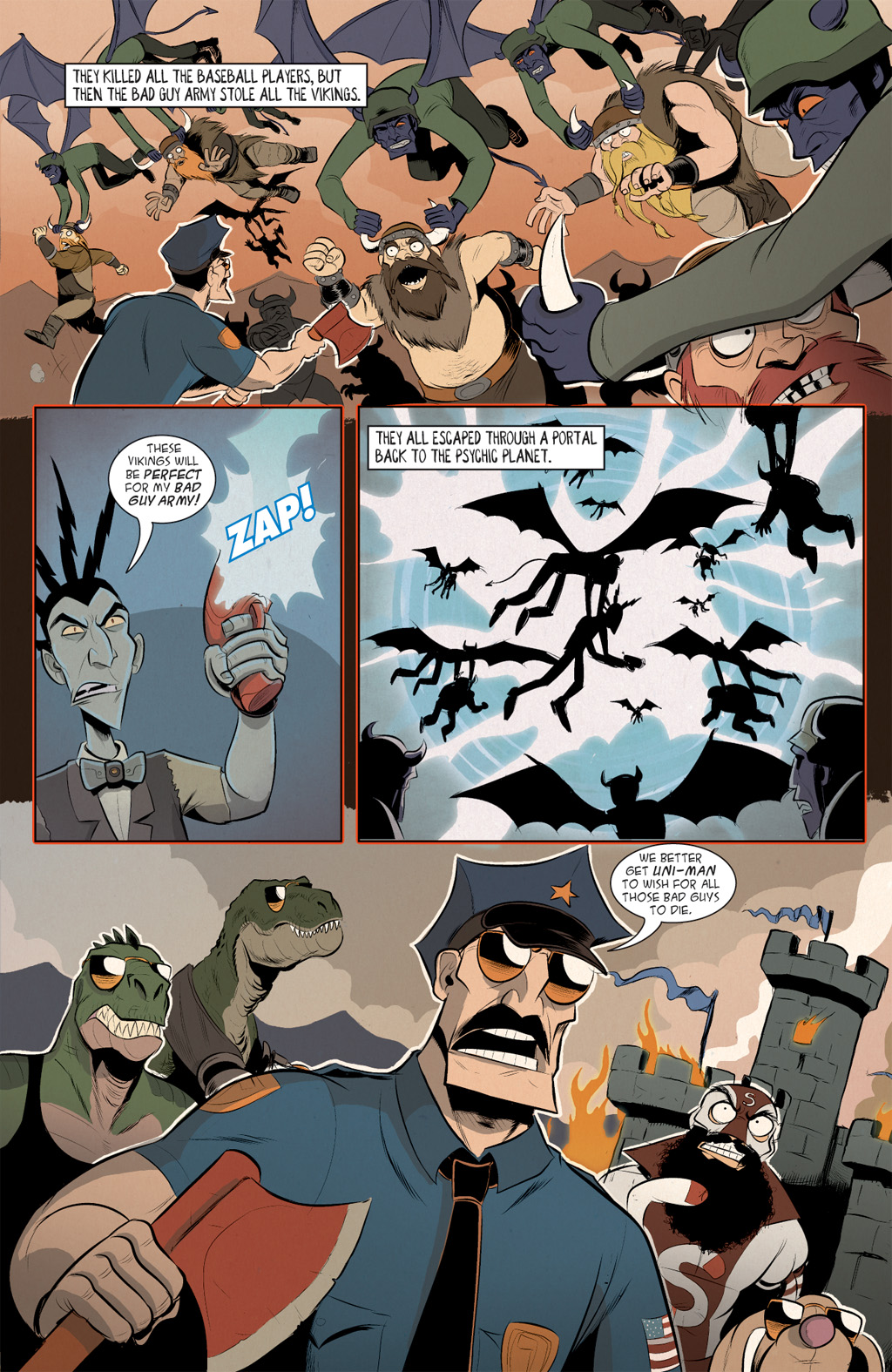 Read online Axe Cop: Bad Guy Earth comic -  Issue #2 - 11