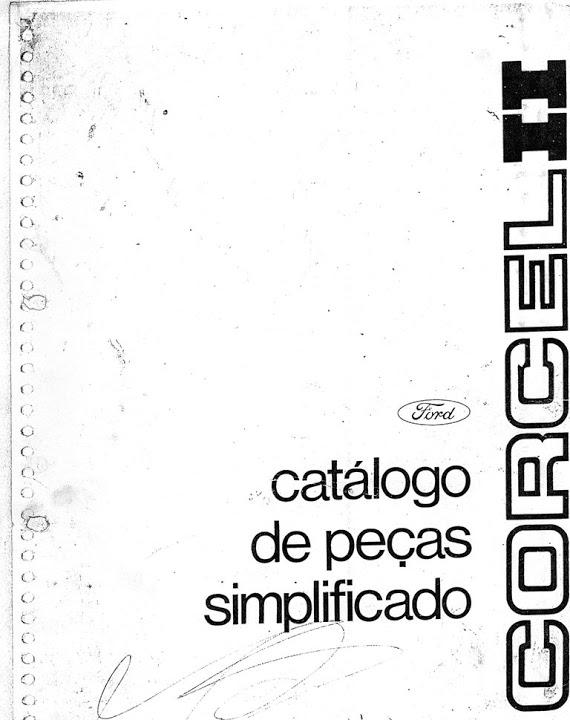 CATALOGO DE PEÇAS CORCEL II SIMPLIFICADO