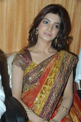 Actress Samantha Latest Gorgeous Stills in Saree