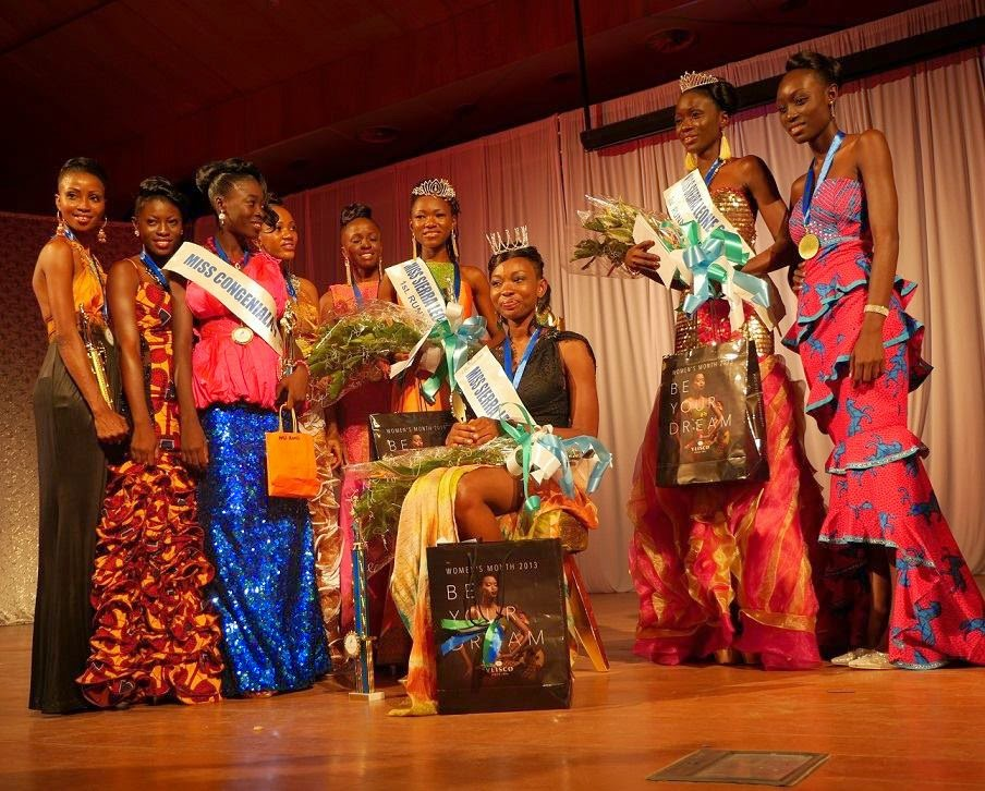 Miss Sierra Leone 2014 winner Margaret Murray