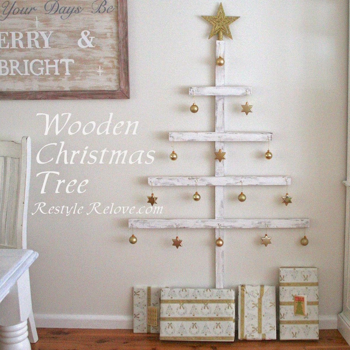 wooden christmas tree tutorial