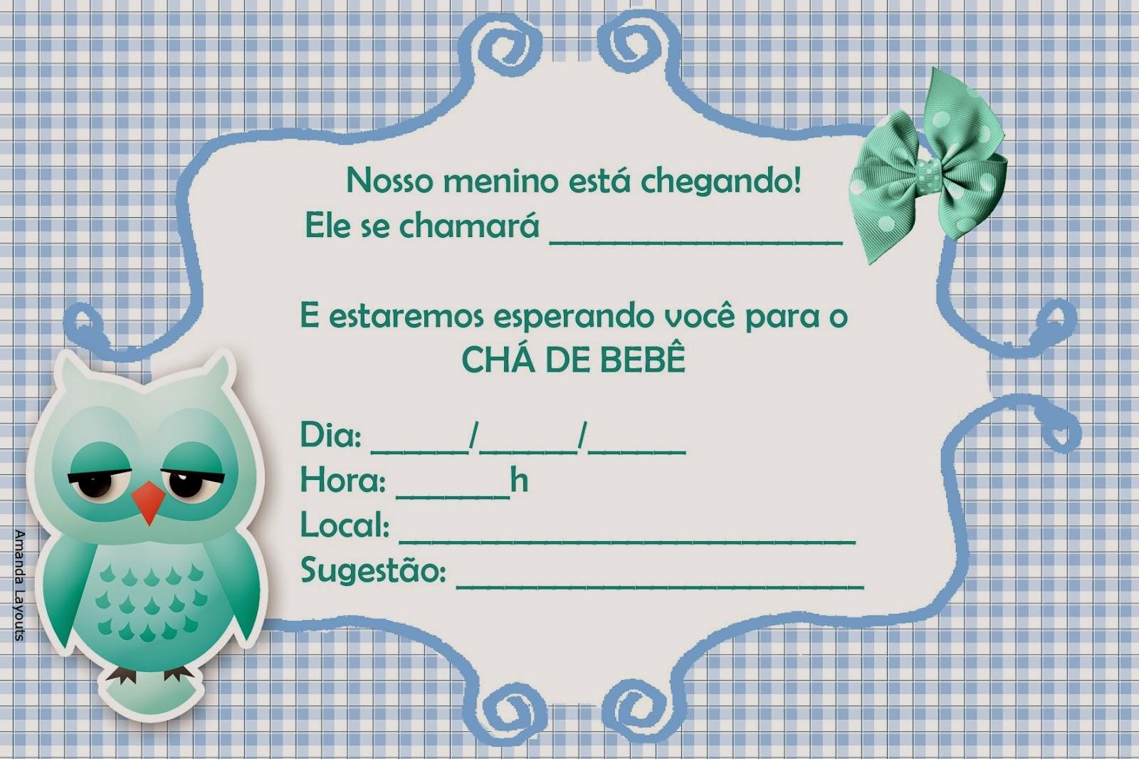 Convites para chá de bebê de menino 5