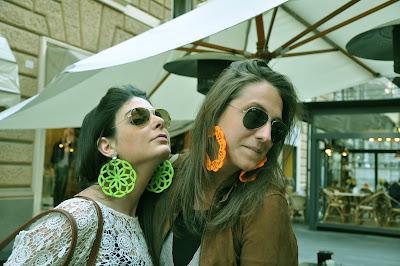 orecchini colorati, zara, le gille, moda,orecchini grandi