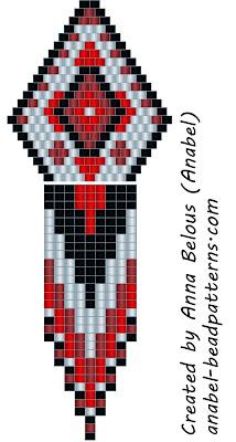 Схема сережек - мозаичное плетение бисер бисероплетение