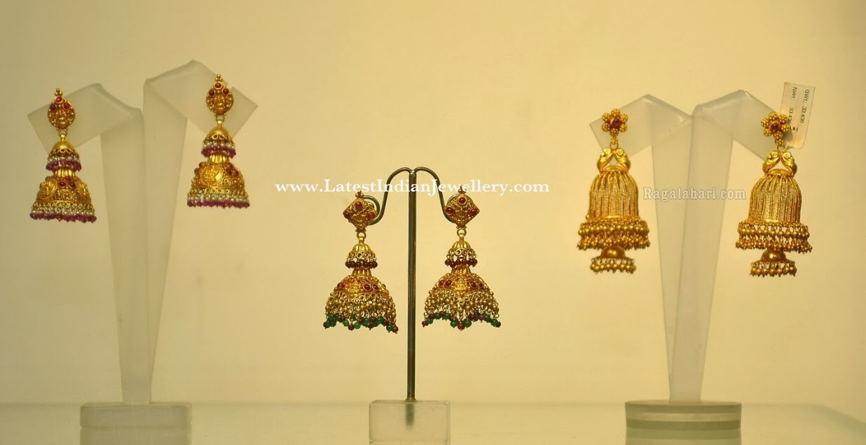 Gold Jhumka Earrings Design