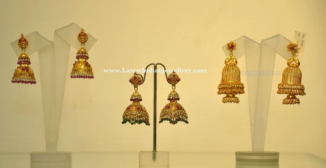 Gold Jhumka Earrings Design