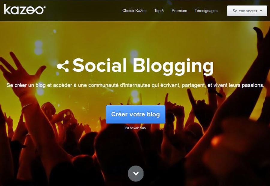 Créer un blog gratuit sans compétences informatiques avec Kazeo.