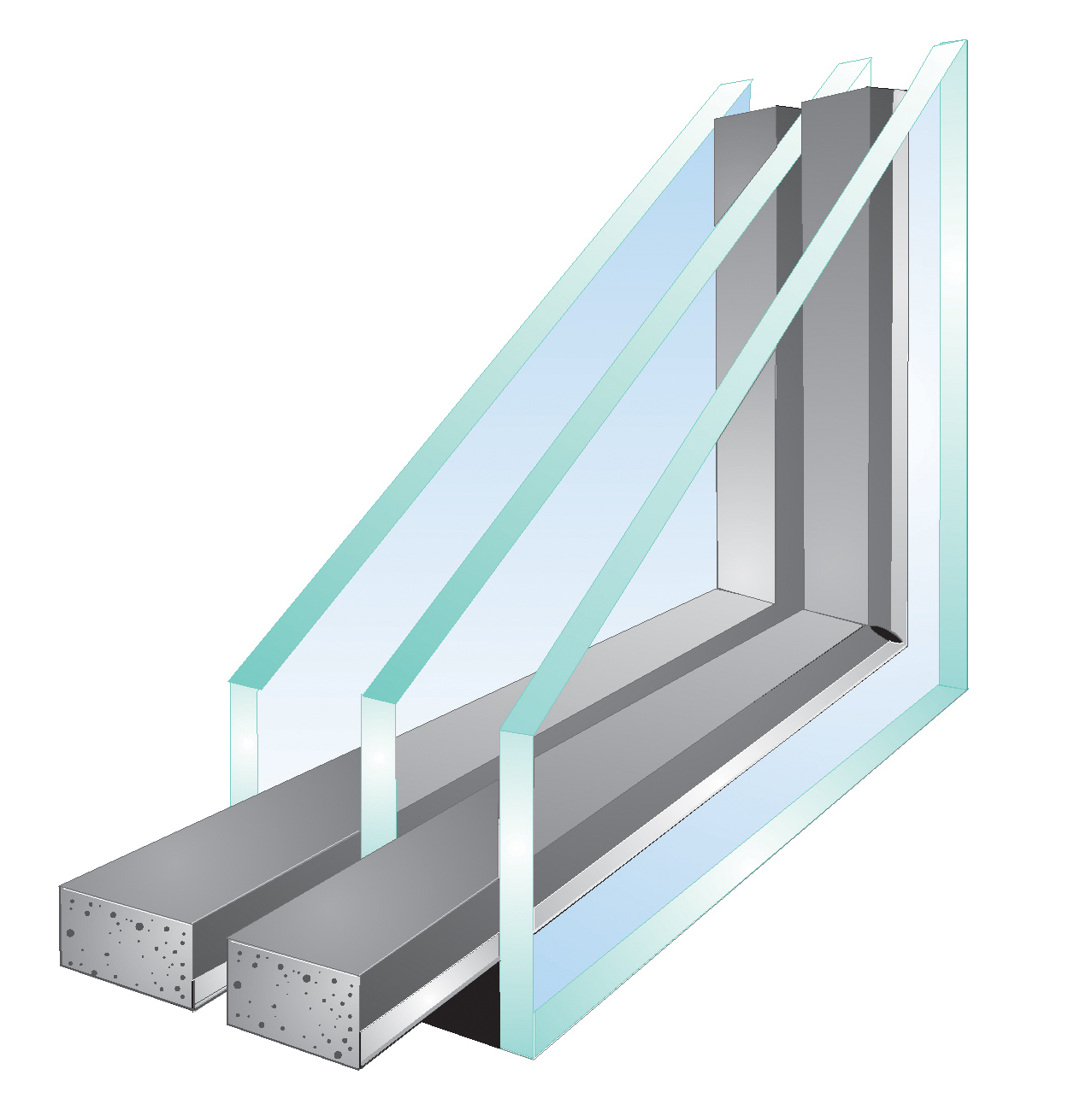Santafeglass double pane vs triple pane windows for Double glazed window glass