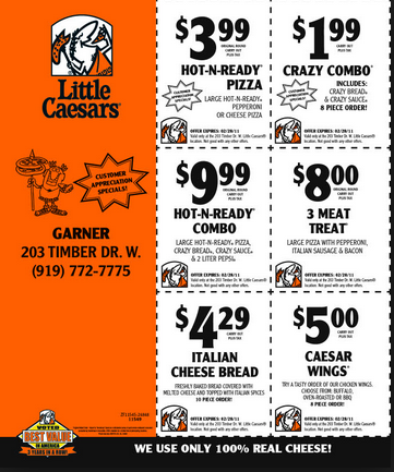 graphic relating to Little Caesars Printable Coupons named Minor Caesars Coupon 2016 Coupon codes Databases 2017