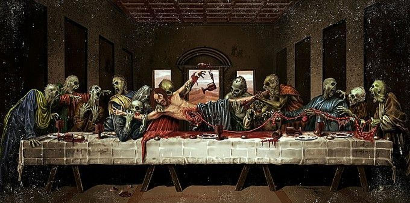 Wallpaper a day zombie apocalypse last supper end of the world zombie apocalypse last supper end of the world wallpaper voltagebd Images