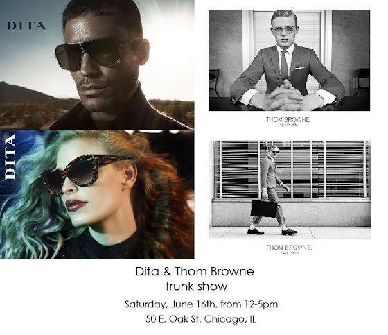 Dita and Thom Browne trunk show