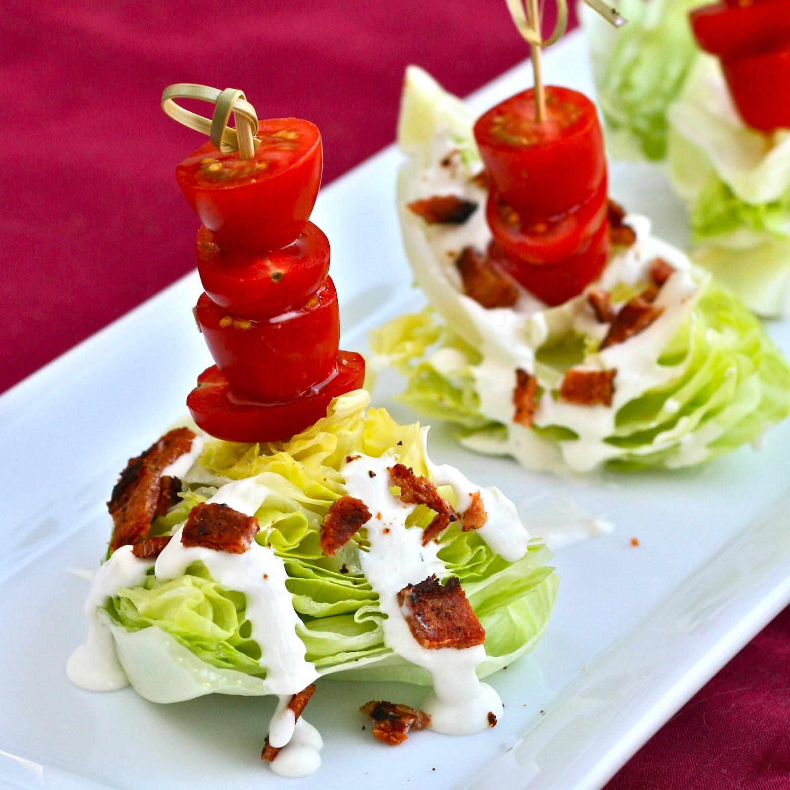 i is for iceberg lettuce mini wedge salads with blue cheese dressing. Black Bedroom Furniture Sets. Home Design Ideas