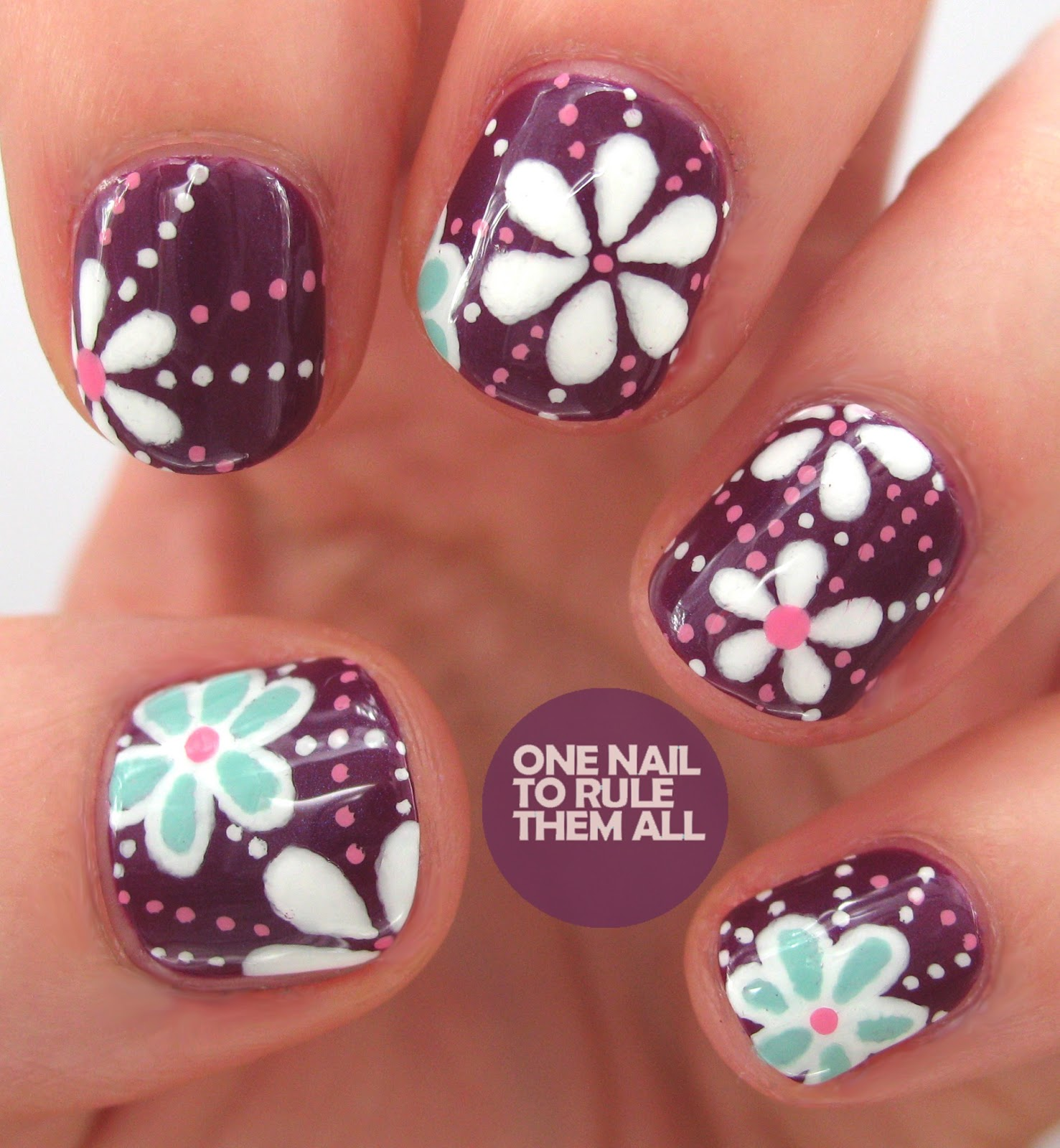Flower Nails: One Nail To Rule Them All: Then And Now: Week 16
