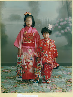 Girls dressed for Shichi-Go-San