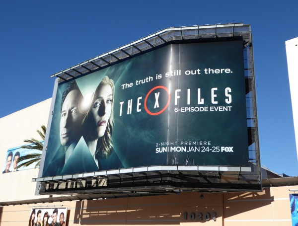 The X-Files 2016 miniseries billboard