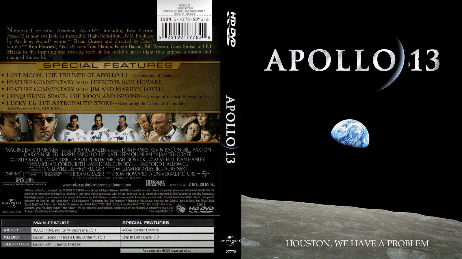 Capa HD DVD Apollo 13