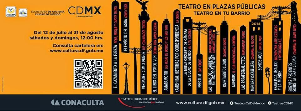 """Festival """"Teatro en Plazas Públicas, Teatro en tu barrio"""" durante Julio y Agosto 2014"""