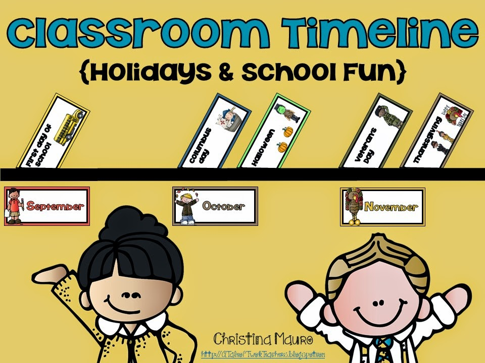 http://www.teacherspayteachers.com/Product/Classroom-Timeline-Holidays-School-Fun-1309690