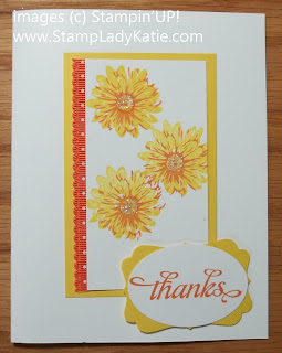 Card made with Stampin'UP!'s Greenhouse Garden Stamp Set. Made by StampLadyKatie