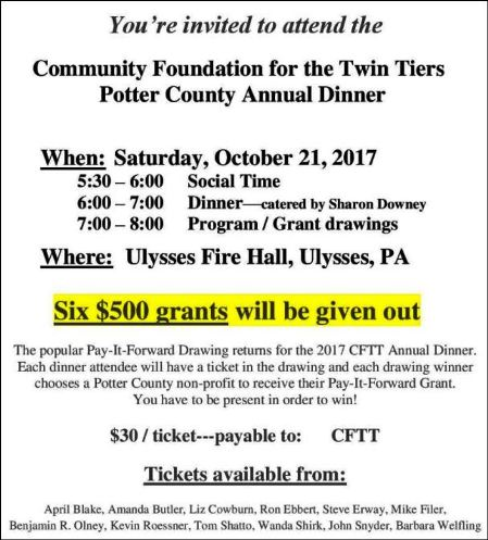 10-21 Community Foundation Dinner, Ulysses