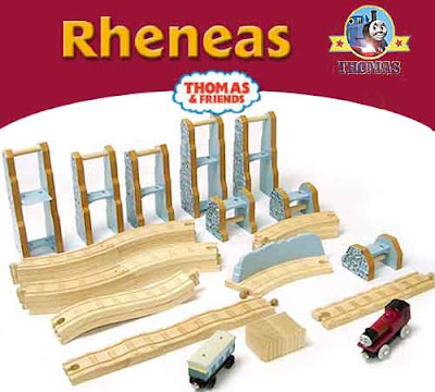 Thomas the tank engine & Friends Wooden Railway Rheneas & the Roller Coaster toy train Set