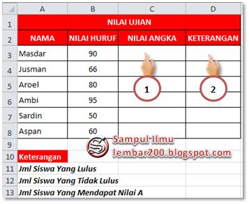 Mencari jumlah Data Menggunakan COUNTIF Di Excel