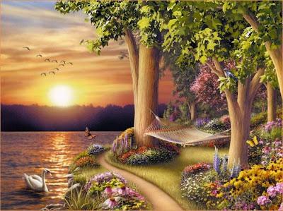 Hermoso paisaje de un lago