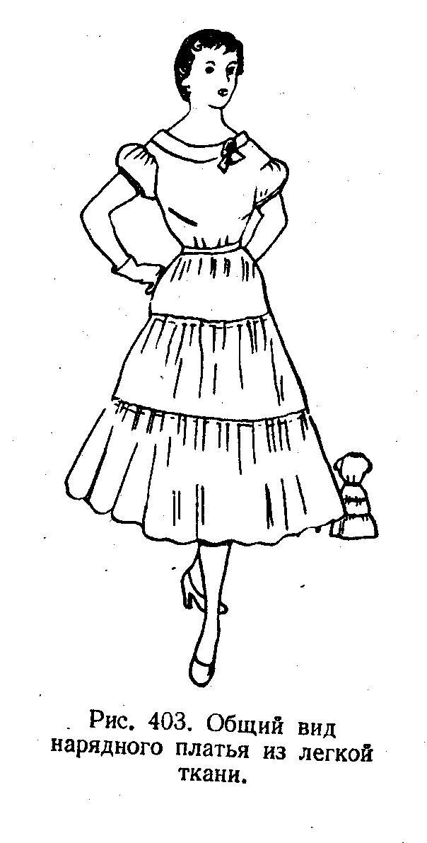 Шитью прямых платья