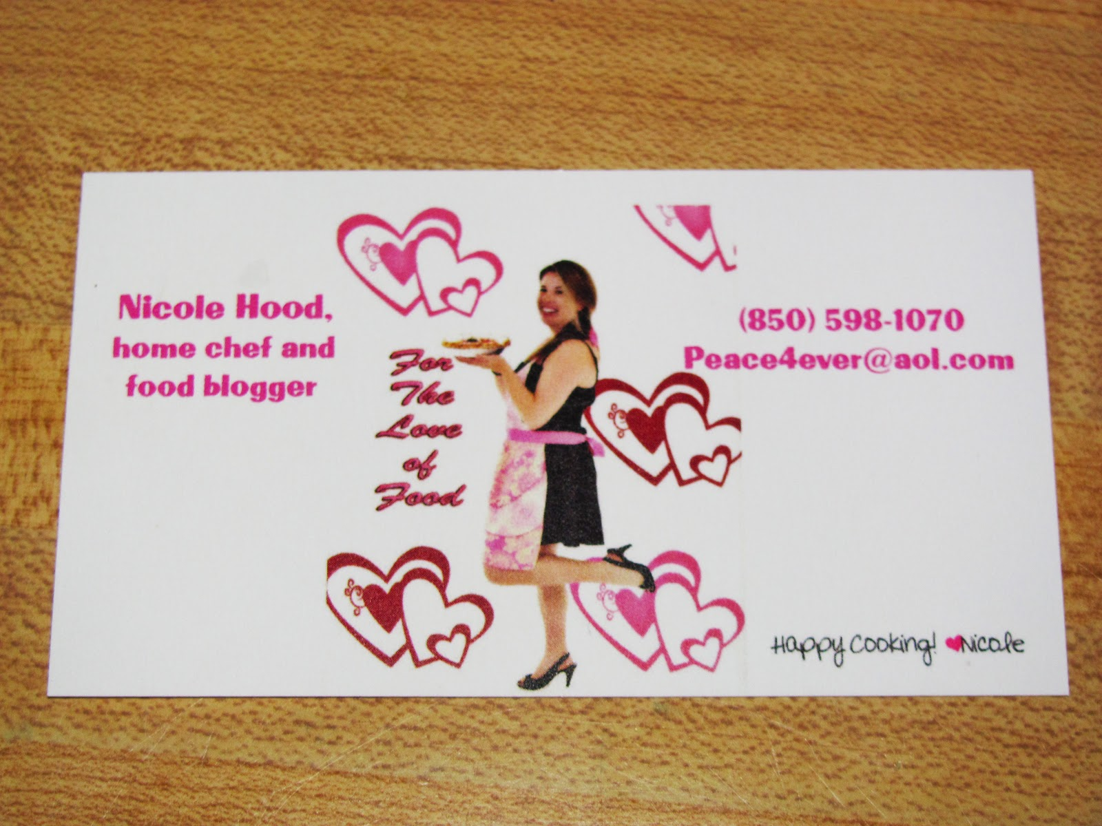 For the Love of Food: New blog business cards!