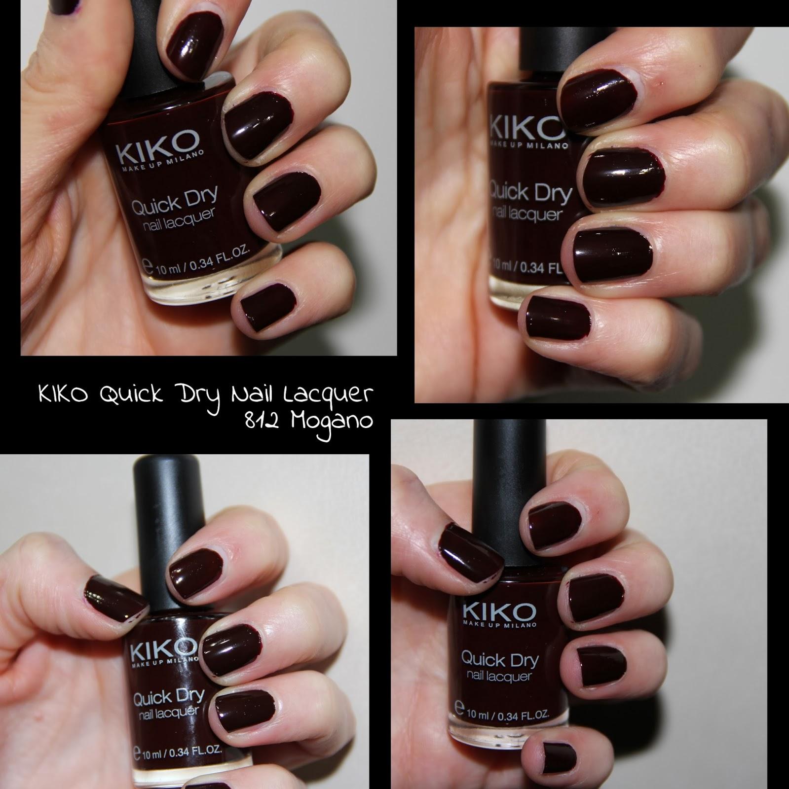 MichelaIsMyName: NOTD // KIKO Quick Dry Nail Lacquer 812 Mogano